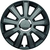 """Image of ALBRECHT automotive 49734 Tapacubos Flash Carbon Dark 14"""" pulgadas, 4 Unidades"""
