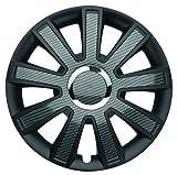"ALBRECHT automotive 49735 Car Wheel Trims Flash Carbon Dark 15 "" inches, 1 Set of 4 Units"