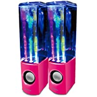 iBoutique ColourJets USB Dancing Water Speaker for PC/Mac/MP3 Player/Mobile Phone/Tablet - Vivid Pink