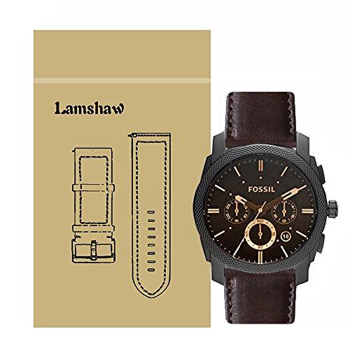 Ceston Classic Ersatz Uhrenarmband für Fossil Herren-Uhren FS4656 (Leder-Kaffee)