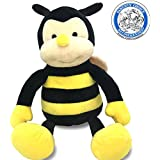 Plush NaNa The Bee With Smile Face And Yellow Wings -Bumblebee Garden Friends Bug Animal Shaped Soft Toy Present For Children 17 Inch By Garden Buzz Cuties