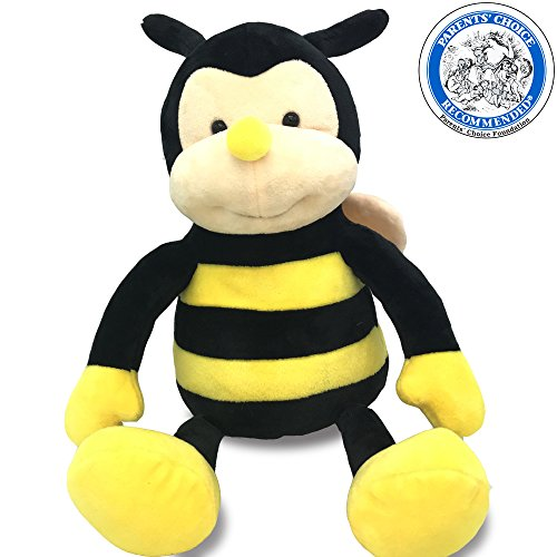 Plush NaNa The Bee With Smile Face And Yellow Wings -Cuddly Bumblebee Garden Friends Buzzy Bug Animal Shaped Soft Toy Present For Children 45cm/17inch