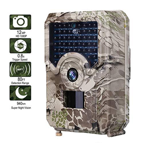 AXNYLHY Hinterkamera 12MP 49pcs 940nm Jagd-Kamera IP56 IR LED wasserdichte Spielkamera der wild lebenden Tiere Nachtsicht 12 S-video