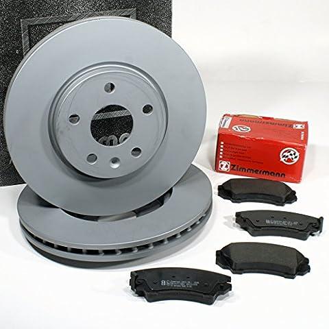 Chevrolet Malibu (V300) - Zimmermann Bremsscheiben Ø 321 mm Coat Z / 17 Zoll Bremsen + Bremsbeläge für vorne / die Vorderachse