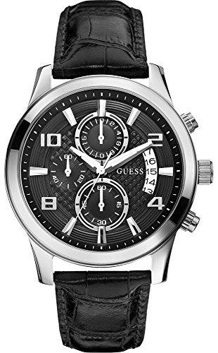 Guess Reloj Cronógrafo para Hombre de Cuarzo con Correa en Cuero W0076G1