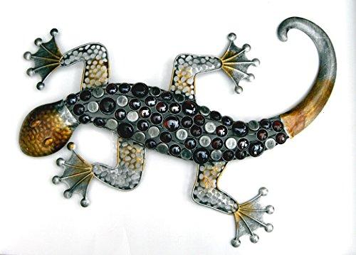 KLP Gecko Eidechse Salamander Deko Figur Echse Drache Skulptur Wanddeko Wandbild