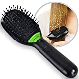 Jago Ionic Hair Brush with Vibration Massage Function (Black) Paddle Anti-Static Ionic Hairbrush for Smooth and Glossy Hair