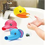 HENGSONG Wasserhahn Anzapfung Extender Waschtischarmatur für Kinder Baby Hande Waschen Badezimmer Küche (Gelb Ente)