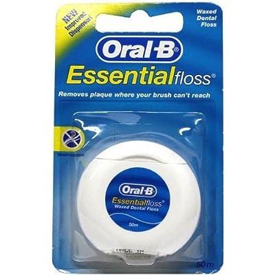 Oral-B Essentialfloss Waxed Dental Floss 50M - Pack Of 3