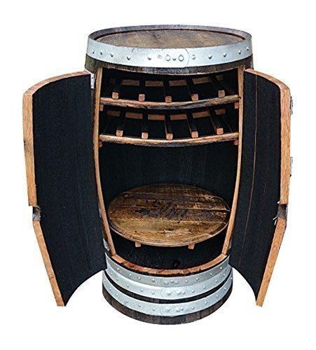 Cheeky Chicks Morag Handgefertigt Echt Eichenholz Getränke Schrank Einzigartig Holz Cask Optional Oberflächen - Braun -