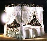 MALIZIA VAL LMB0538 – Letto Matrimoniale completo di baldacchino in Ferro Battuto Colore veneziano - Prodotto in Italia da VALASTRO LIGHTING