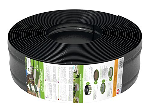 AMISPOL 25 Mètres Bordure de Gazon en Plastique 125/4 mm de Bordures de Pelouse - Flexible Bordure de Jardin, Bordure de Pelouse Flexible, Pliable Garden Lawn, Idées de Jardin, Jardin Conception