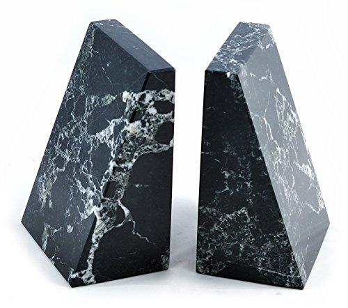 Schwarz Marmor Buchstützen Keil - Fossil Marmor