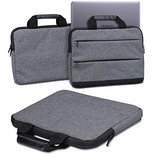 Schutzhülle Huawei MateBook D 14 Zoll Laptop Tasche Sleeve Case Notebooktasche Hülle in Grau Tragetasche mit Griffen Universal Laptoptasche, Farbe:dunkel Grau