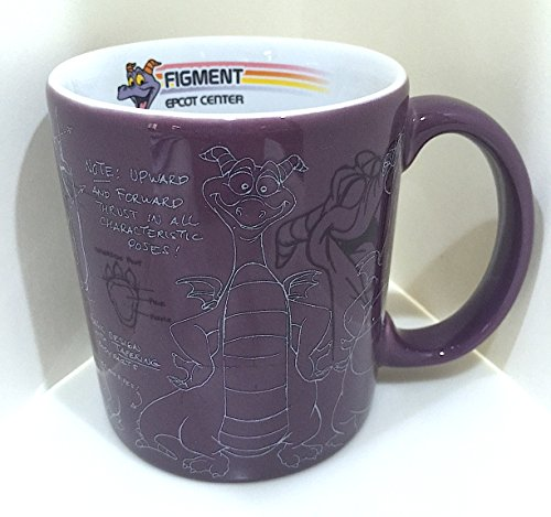 disney-parks-epcot-center-figment-mascot-sketch-coffee-mug-cup-new-by-disney