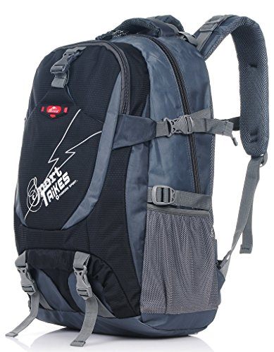 Binlion Taikes Outdoor Backpack Climbing Backpack Sport Bag Camping Backpack Black-2