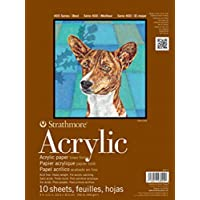 "Strathmore 400 Series Acrylic Pad, Linen Finish, 6""x6"" Glue Bound, 10 Sheets"