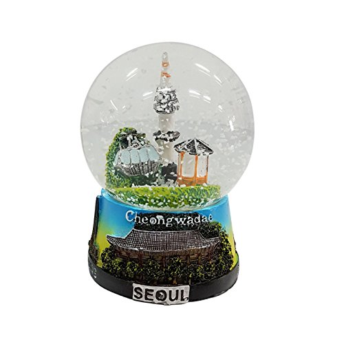 Crystal Design Namsan Seoul Tower Snow Globe Medium Korea Miniatur Gebäude Medium Mehrfarbig -
