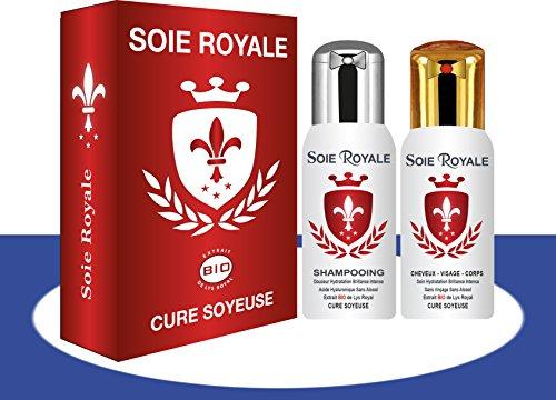 coffret-soie-royale-cure-soyeuse-125-ml-sans-rincage-shampoing-bio-regenerent-125-ml-cheveux-visage-