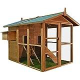 Poulailler / refuge pour petits animaux - 191x151x172 cm - 2 étages