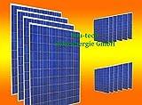 16 Stück 250 Watt Solarmodul Solarpanel Photovoltaik Solarzelle NEU