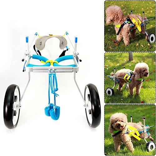 51xaw4iIXWL - Teabelle - Silla de Ruedas Ajustable para Perro, para rehabilitación de piernas para Perros pequeños con minusvalía, Perros y Cachorros (2 Ruedas)