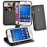 Cadorabo - Book Style Hülle für > Samsung Galaxy ACE STYLE LTE < - Case Cover Schutzhülle Etui Tasche mit Standfunktion und Kartenfach in PHANTOM-SCHWARZ