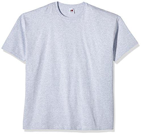 Fruit of the Loom Herren T-Shirt SS021M, Mehrfarbig, X-Small Grau - Grau