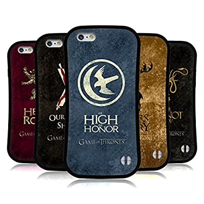 Official HBO Game Of Thrones Dark Distressed Sigils Hybrid Case for Apple iPhones Phones