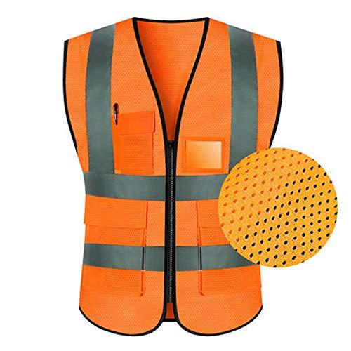 Qi Peng Reflektierende Weste - Reflektierende Weste Sicherheitskleidung Verkehr Reiten Jacke Hygiene Arbeiter Fluoreszierende Anzug Autofahrer Männer Und Frauen (Multi-Color-Auswahl) Reflektierende We