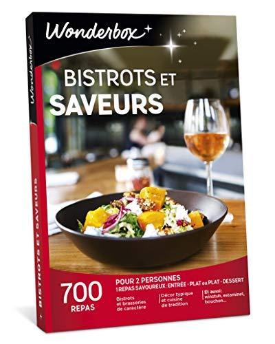 Wonderbox - Coffret Cadeau couple - BISTROTS ET SAVEURS - idée cadeau de noël - 700...