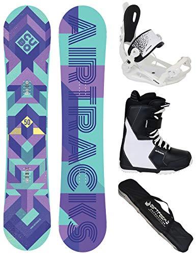 Airtracks Damen Snowboard Set/Cubo Lady Rocker 140 + Snowboard Bindung Master W + Snowboardboots Star W 37 + Sb Bag -