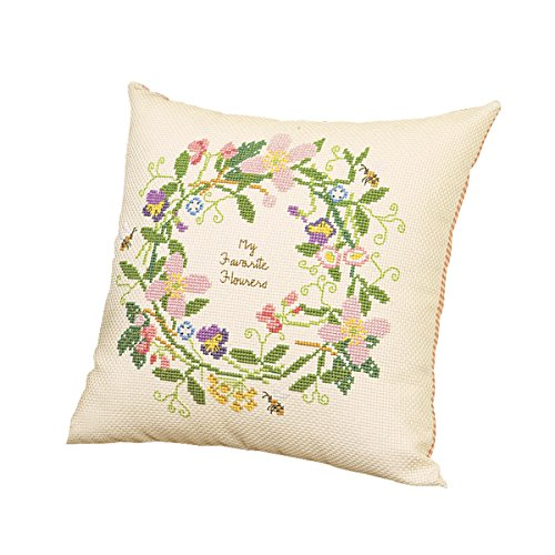 Stickerei-Kit 5971 (beige) Kissen Blume Leasing 4519g (Japan-Import) (Stickerei Kissen Kit)