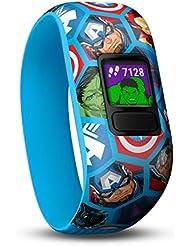 Garmin vívofit jr. 2, wasserdichte Action Watch für Kinder – im heldenhaften Marvel Avengers Design mit Abenteuer-App, Uhrfunktionen, Schrittzähler und Batterielaufzeit von bis zu 1 Jahr