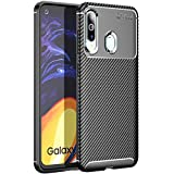 Valueactive Back Cover for Samsung Galaxy M40 Covers and Cases Carbon Fiber Shock Proof Rugged Armor with Metallic Brush Finish Back Cover Case for Samsung Galaxy M40 (Black)