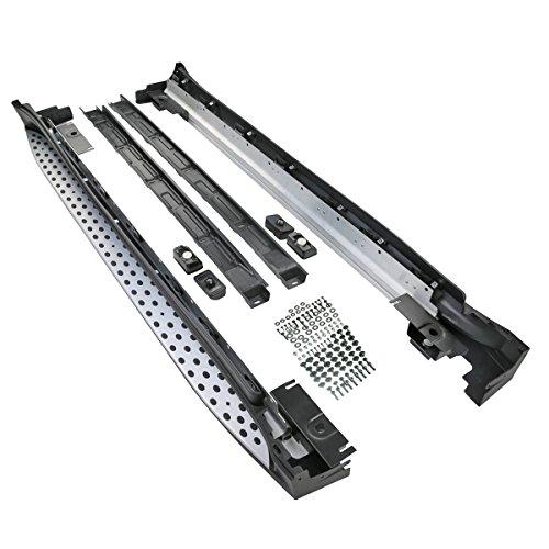 Set Aluminium Trittbretter Schwellen Bretter Schwellerrohre M-Klasse W164 < ML280 300 320 350 420 500> inkl. Anbaumaterial