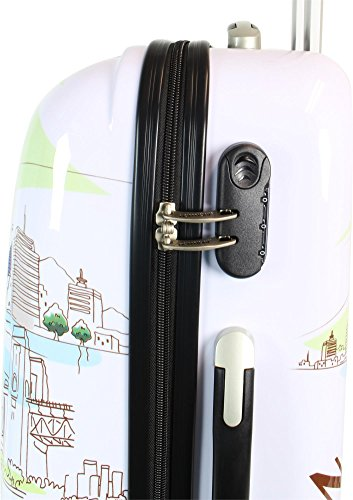 ABS Hartschalen Koffer mit Teleskopgriff und Zahlenschloss New York