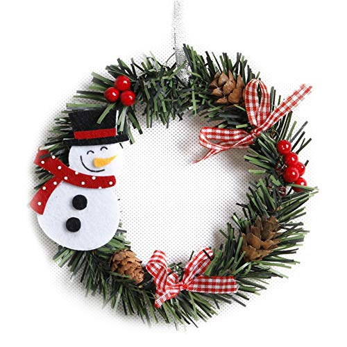 Christmas Garland Decorations Snowman Deer Art Wreath Rattan Reed Wreath Garland Christmas Decoration Ornaments Party Supplies Home Decor