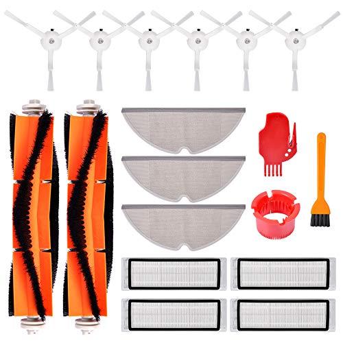 Accessoires pour le robot aspirateur Xiaomi Mi - 6 brosses latérales, 4 filtres HEPA, 2 brosse principale, 2 Mopping chiffon, 2 outils de nettoyages
