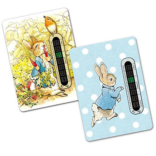 Twin Pack–Peter Hase Kinderzimmer und Zimmer Thermometer für Baby/Kind (2separate Designs) (Unsere Welt Kinder Anzeigen)