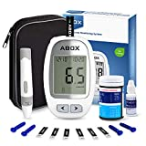 Diabetes Testing Kit, ABOX Glucose Test kit Blood Sugar Tester for Home+Code-Free Strips+Lancets+Auto