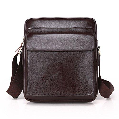Männer Schultertasche aus echtem Leder Tasche männlichen Klassische Aktentasche Messenger Bag Business Handtaschen PUBG Anreise - Braun Large Rolling Luggage