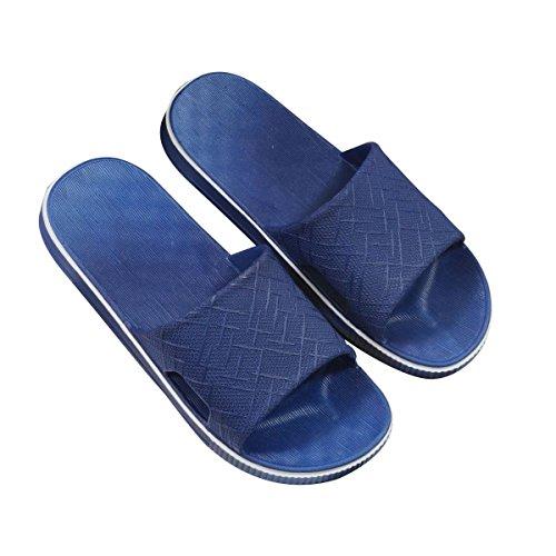 Pantoufles En Gros D'été En Plastique Anti-slip Pantoufles De Bain Femme Maison Nouveau Pantoufles Mâle Intérieur Maison Pantoufles,Pink(41) Blue(42)