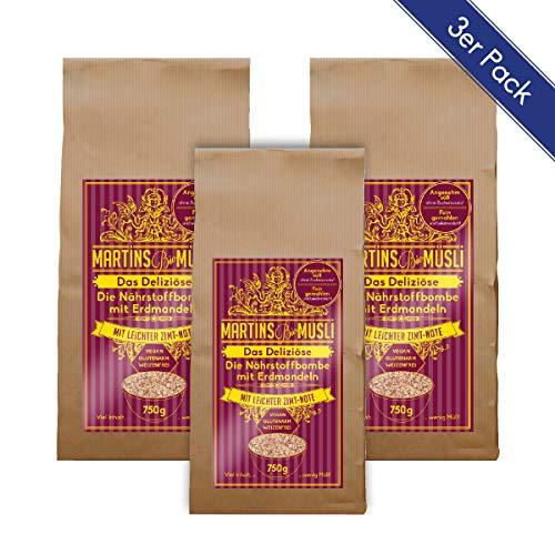 , Frühstücksbrei. Das Deliziöse 750g: gesundes veganes basisches Frühstück ohne Zucker-Zusatz. Für eine gesunde Ernährung. Rezept mit Superfoods Chia-Samen & Erdmandeln (Chufas) 3x ()