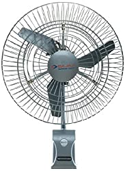 Bajaj Supreme Plus 220-Watt Air Circulator Wall Fan (Silver Grey)