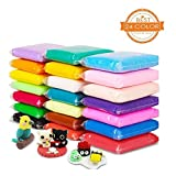 Modelling Clay Aitsite 24 Colours Super Light Polymer Clay Air Dry Magic Clay Soft Safe and Nontoxic Putty Fluffy Floam Slime