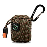 The Friendly Swede Survival-Pod – Survival-Kit inklusive Drahtsäge, Rettungsdecke und Paracord (Armee Grün/Camouflage) - 2