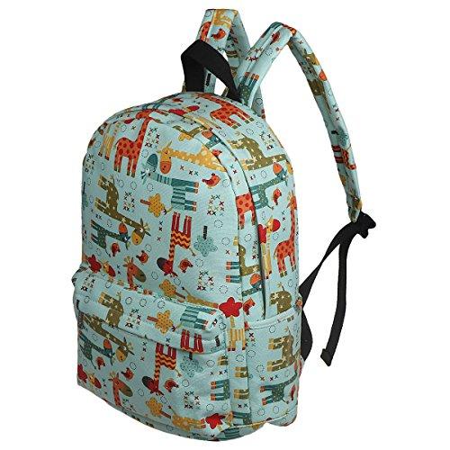 f7cac1c153 xhorizon FM8 Süße Vorschule Buch Tasche Mädchen Laptop Rucksack für Kinder  Tagesrucksack Rucksack Grüne Giraffe