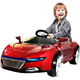Kids Battery Operated Ride On Car With Music,Lights And Remote Control (Blue) (Red(Maroon))