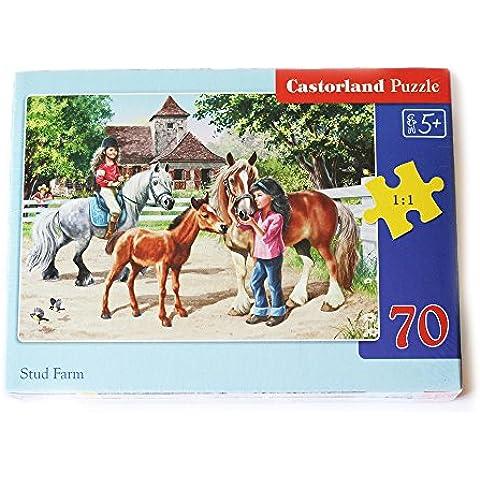Puzzle Castorland para niños de más de 5 años de edad rompecabezas 70 piezas Nueva Colección Yeguada de caballos Pony